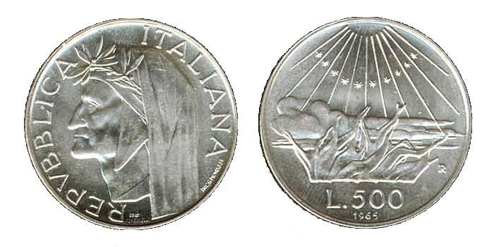 500 Lire Argento 1965