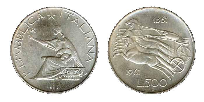 500 Lire Argento 1961