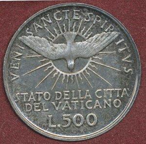 500 Lire Argento Sede Vacante 1958 Città del Vaticano