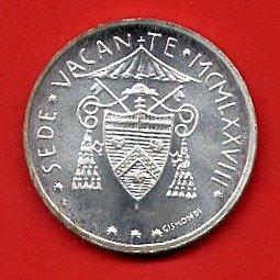 500 Lire Argento Sede Vacante 1978 Città del Vaticano