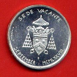 500 Lire Argento Sede Vacante 1978 Settembre Città del Vaticano